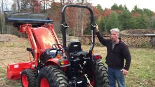 getlinkyoutube.com-Kioti CK4010 & CK3510 Tractor Loader w/ Snowblower Review