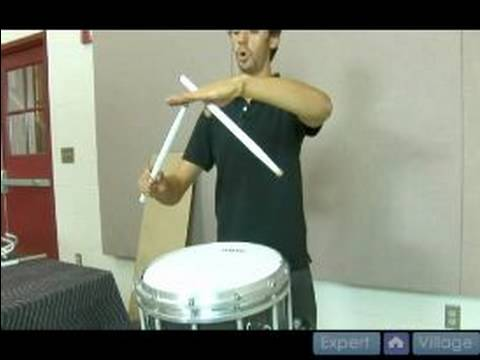 Basic Drum Strokes : How to Play a Down Stroke Drum Roll on a Snare