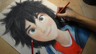 getlinkyoutube.com-Speed Drawing: Hiro Hamada (Big Hero 6) | Diana Díaz