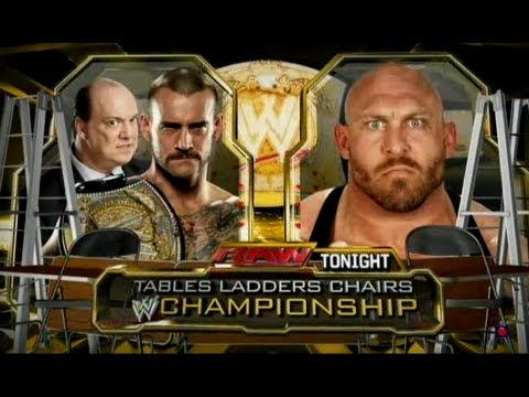 WWE Raw CM Punk Vs Ryback TLC Match (WWE Championship) HD