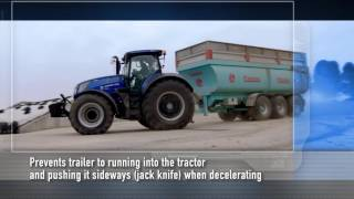 New Holland #T7Heavy Duty in action - Anti jack-knife