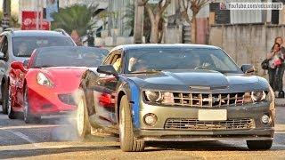 getlinkyoutube.com-SUPERCARS OF CURITIBA #06 - Camaro Burnout, Ferrari, Lamborghini, McLaren, Porsche & More!