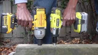 getlinkyoutube.com-Lag Bolt Impact Wrench Shootout #4: Ryobi vs Dewalt , IR , Mastercraft