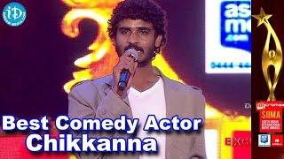 getlinkyoutube.com-SIIMA 2014 Best Comedian Award | Chikkanna | Raja Huli Movie