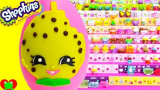 getlinkyoutube.com-Shopkins Kooky Cookie Charm Play Doh Surprise Egg and Limited Edition Hunt