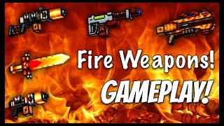 getlinkyoutube.com-Pixel Gun 3D - Fire Weapon Gameplay!