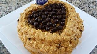 getlinkyoutube.com-Pastel de Cafe con betun de Cajeta, receta facil para el dia del Padre.