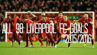 getlinkyoutube.com-Liverpool FC - All 98 Goals 2015/2016 - English Commentary (Just Goals)