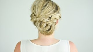 getlinkyoutube.com-Looped and Twisted Updo Tutorial