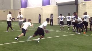 Youth Football Defensive Back Drill