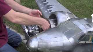 getlinkyoutube.com-RC Twin Beech motor failure at MC Venus Netherlands