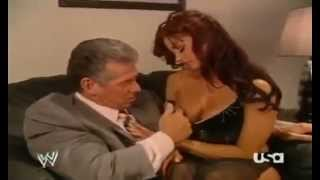 getlinkyoutube.com-Vince Mcmahon and Candice Michelle Making Out Backstage