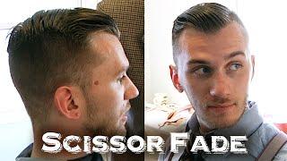 getlinkyoutube.com-Tapered Scissor Fade Haircut | With Unique Fluttering Shears Technique (ASMR Triggers)