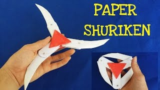 getlinkyoutube.com-How to make a Paper Ninja Star (Shuriken) | Cyclone Tri-blade Thrower