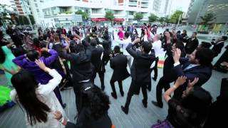 getlinkyoutube.com-FLASH MOB Mariage de Ragis et Isaline - Dance : revelation -- BLACKMOTION