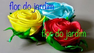 getlinkyoutube.com-Rosa de fitasde cetim - How to make satin ribbon roses