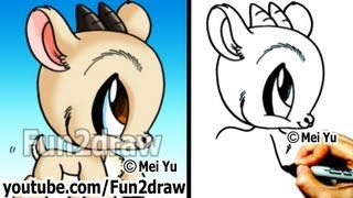 getlinkyoutube.com-How to Draw Easy Stuff - How to Draw Animals - Goat - Cute Drawings - Fun2draw