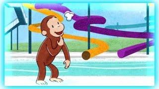 getlinkyoutube.com-Curious George - Splash  Tastic  Water Slide - Curious George Games