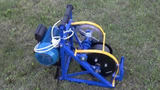 getlinkyoutube.com-Электрическая лебедка для вспашки Бумеранг - единственное в России серийное производство