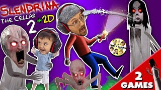 SLENDRINA'S BABY? GRANNY gets Shawn in Cellar 2 + Slendrina 2D Puzzle Game (FGTEEV 2-in-1) width=