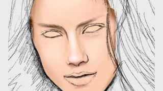 getlinkyoutube.com-Пробы планшетного пера - пробное рисование лица