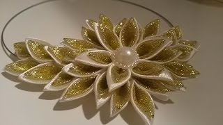 getlinkyoutube.com-Нежное КОЛЬЕ своими руками из ленты 2.5 см  Necklace DIY