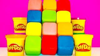 getlinkyoutube.com-Many Play Doh Eggs Surprise FROZEN Kinder Surprise LPS Spongebob Spiderman Rio 2 Dora Moshi Monsters