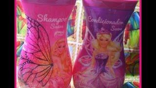 getlinkyoutube.com-Resenha: Shampoo e Condicionador Barbie = Jaciara Lima