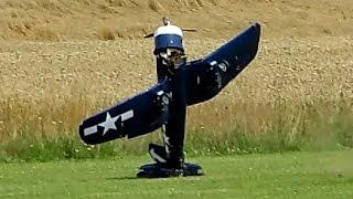 getlinkyoutube.com-RC AIRPLANE CRASH !!! Big Scale RC - F4U Chance-Vought Corsair *HD*