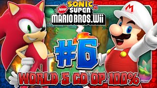getlinkyoutube.com-Sonic & Mario in New Super Mario Bros Wii - Co Op 100% - Part 6
