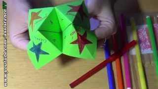 getlinkyoutube.com-Гадалка из бумаги / Интересное оригами для детей