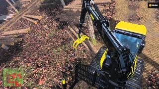 getlinkyoutube.com-FS 15 Hardcore Forestry #11 Forwarder Logging Load - Unload