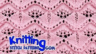 getlinkyoutube.com-Ginkgo Leaf | Lace Knitting #19