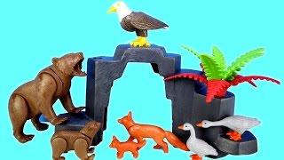 getlinkyoutube.com-Playmobil Wildlife Animals Treehouse Building Set Build Review