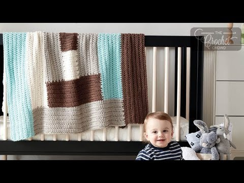 How to Crochet A Baby Blanket: Log Cabin