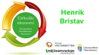 Miljösamverkan - Inspirerande halvdag om cirkulär ekonomi - Henrik Bristav