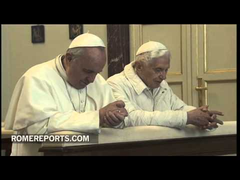 Pope Francis visits Benedict XVI  