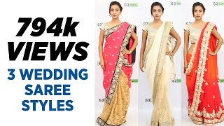 getlinkyoutube.com-How to wear Saree for Wedding in 2017 - 3 New Styles You Must try
