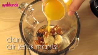 getlinkyoutube.com-Resep Makanan Bayi - Jus Pisang Kurma