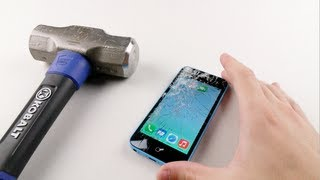 getlinkyoutube.com-iPhone 5C Hammer Smash Test - Stronger Than 5S?