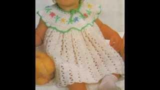 getlinkyoutube.com-Instrucciones Como Tejer Vestidito Para Bebé a ganchillo