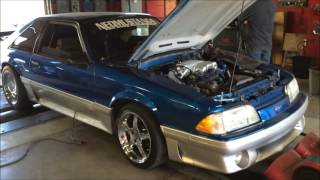 "getlinkyoutube.com-1990 FORD MUSTANG GT ""THE DYNO EXPERIMENT"" 19# inj vs 24s!"