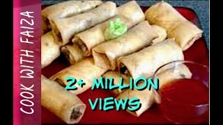 getlinkyoutube.com-CHICKEN SPRING ROLL *COOK WITH FAIZA*