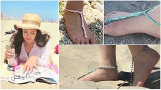 getlinkyoutube.com-How To: DIY Easy Bottomless Sandals!