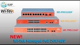 รีวิวแกะกล่อง New Pro Duct Wi-Tek Managed PoE 24V/48V