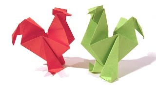 getlinkyoutube.com-Easter Origami Rooster / hen - Tutorial - How to make an origami rooster / hen