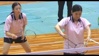 getlinkyoutube.com-【バドミントン】インカレ女子ダブルス決勝【筑波大学 vs 北翔大学 】Intercollegiate Badminton Championships Japan