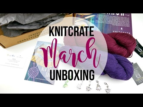 March KnitCrate Unboxing, Giveaway, Promotion Code! Episode 398