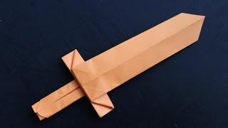 getlinkyoutube.com-How to make a cool origami paper sword