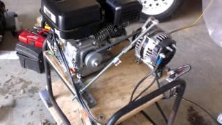 getlinkyoutube.com-Home made emergency inverter generator